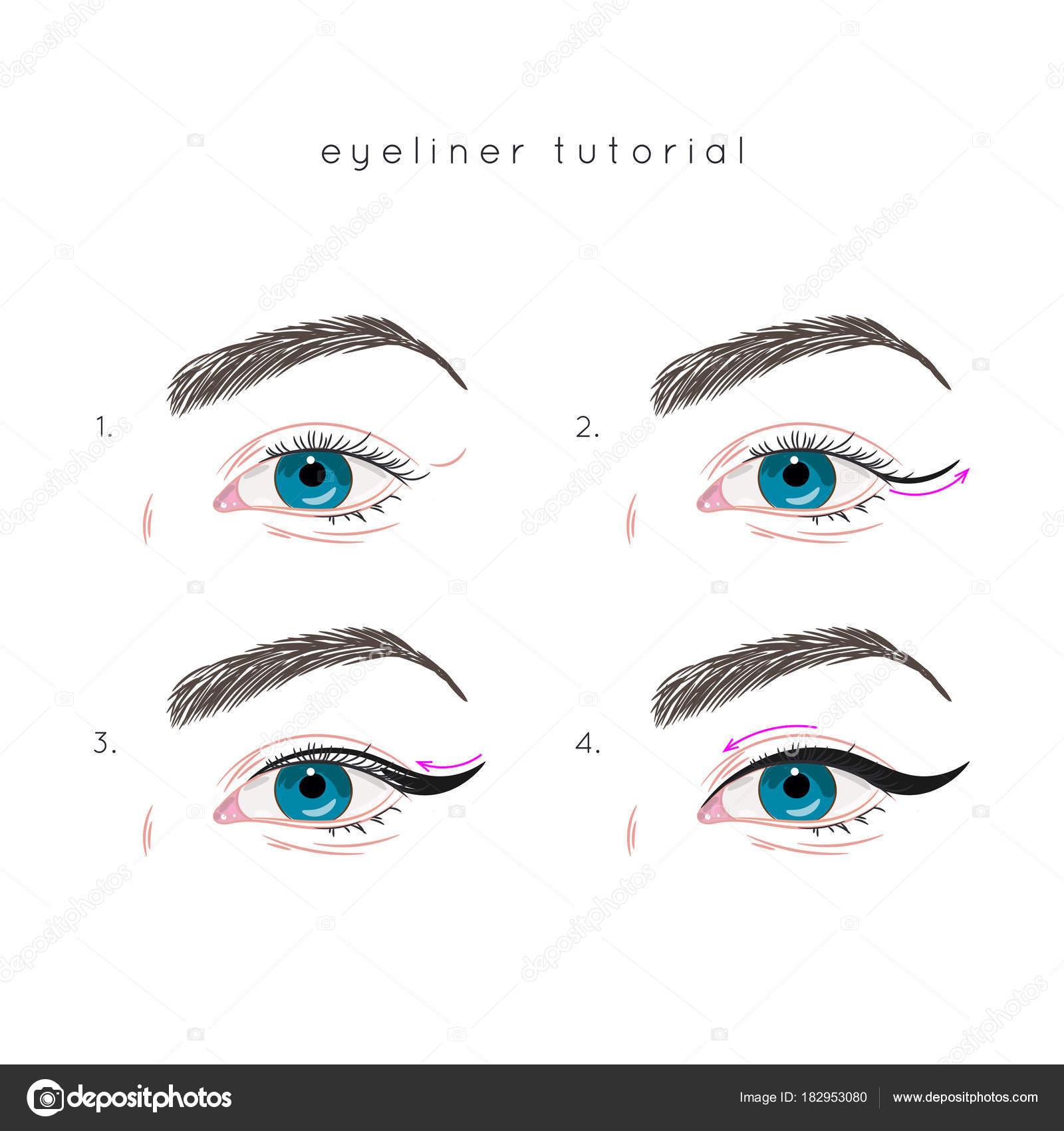 Bezaubernd Augen Make Up Schritt Für Schritt Sammlung Von St Wie: Eyeliner Auftragen. Sie Für —
