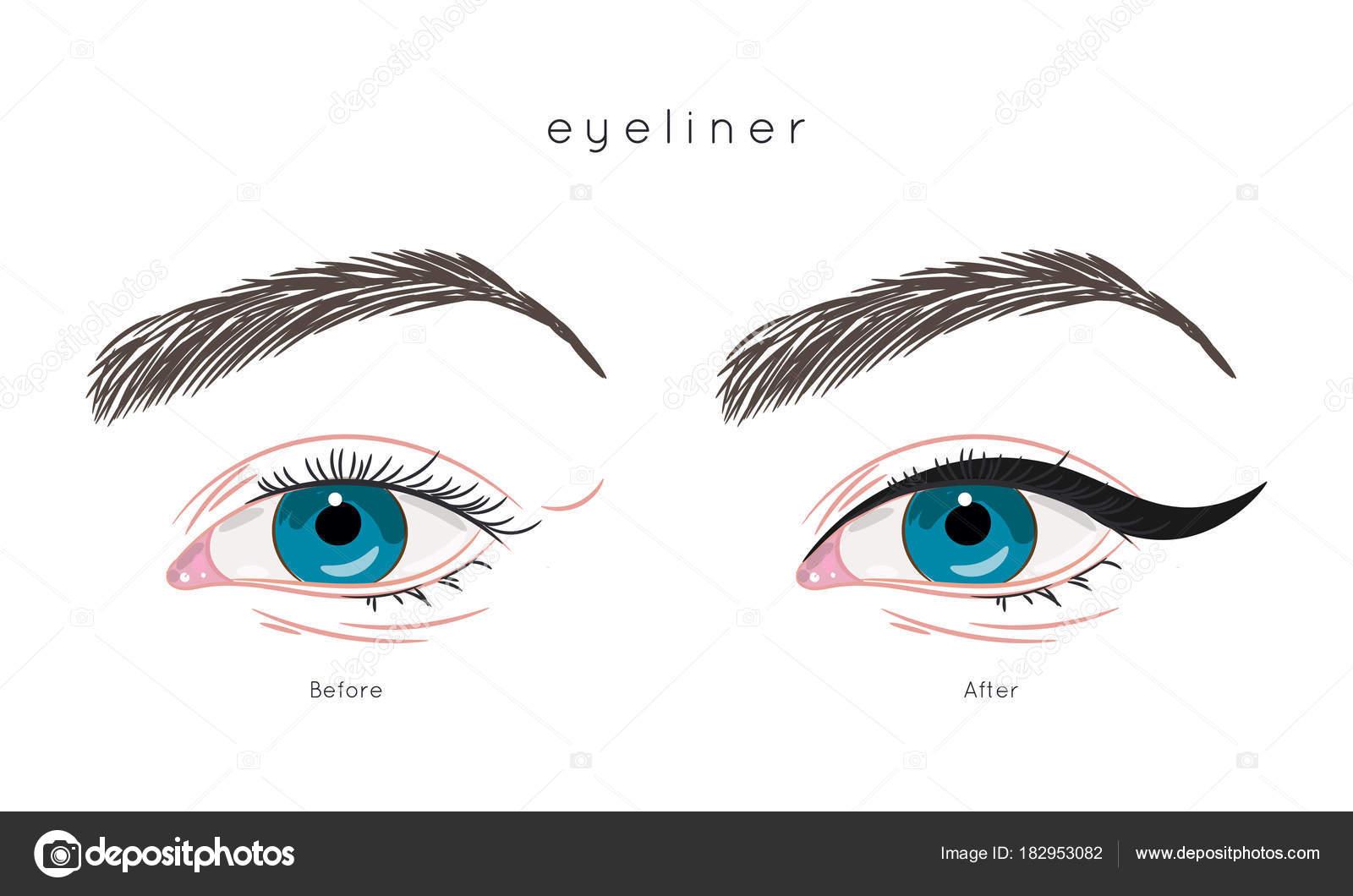Wunderbar Augen Make Up Schritt Für Schritt Referenz Von St Wie: Eyeliner Auftragen. Sie Für —
