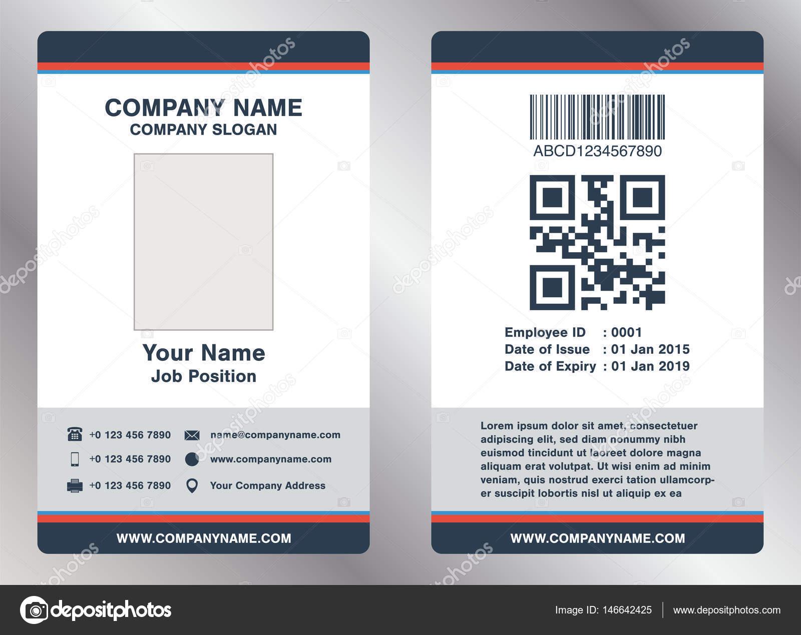 einfache mitarbeiter business name karte vorlage vektor stockvektor siiixth 146642425