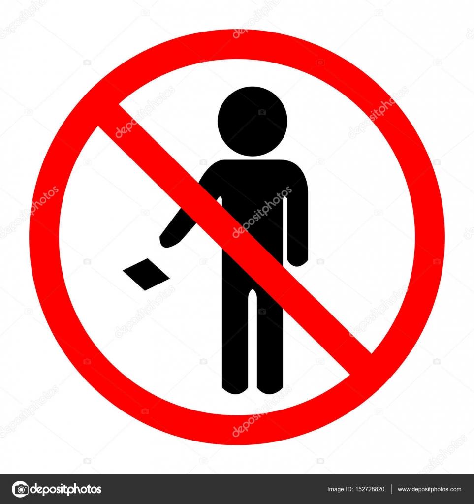 Lassen Sie Ihren Müll nicht auf dem Boden Symbol Zeichen ...