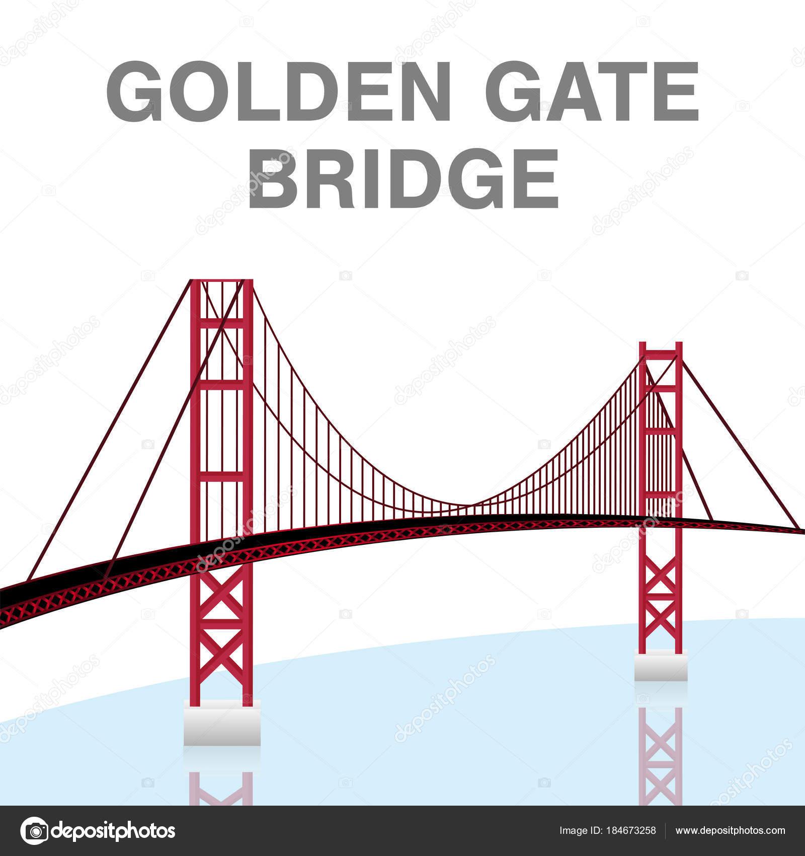 Dessin Du Pont De San Francisco vecteur francisco californie san pont golden gate — image