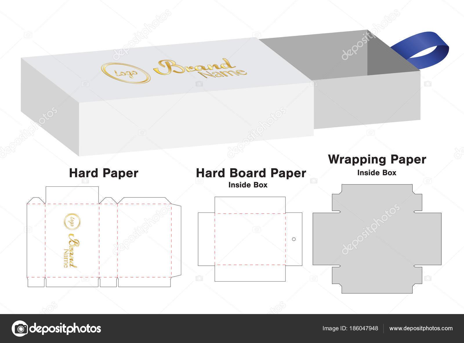 box packaging die cut template design mock stock vector siiixth