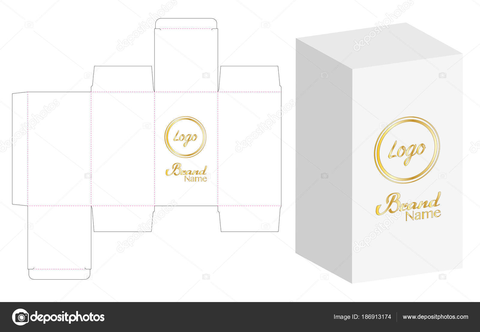 Box Packaging Die Cut Template Design Mock Vector Illustration ...