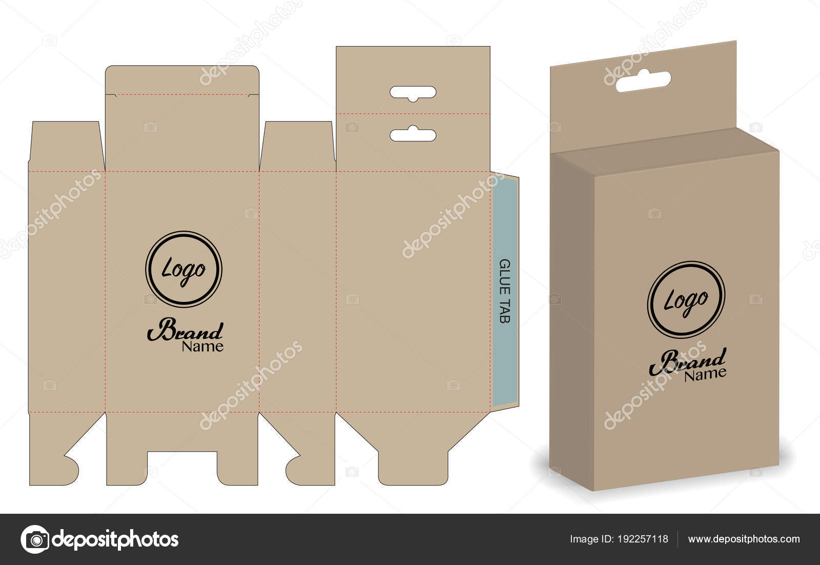Box Packaging Die Cut Template Design Mock — Stock Vector © siiixth ...