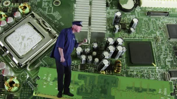 Obvodové desky monitoru s ostrahou nebo policejní důstojník