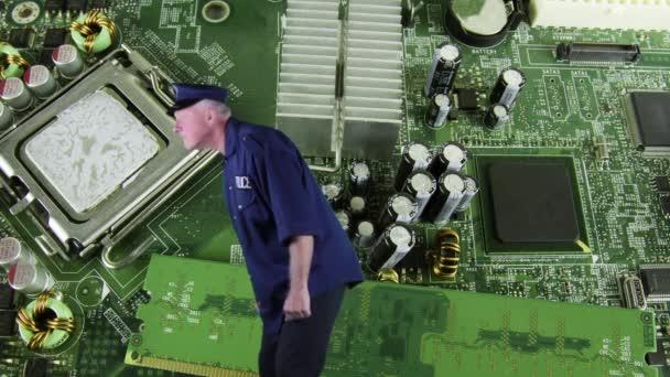 Obvodová deska s security Guarda hlídkují počítače