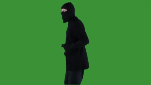 Šperky zloděj na zelené obrazovce
