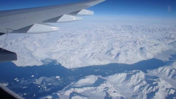 Aerial over Greeland glaciers