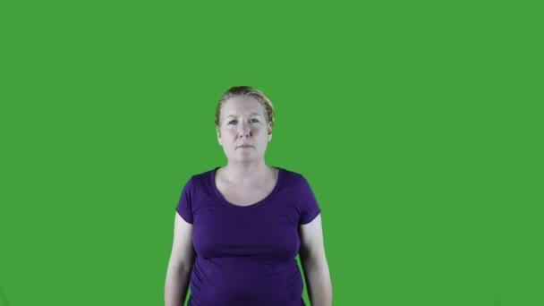 Žena kýchání, jaro, zelená obrazovka
