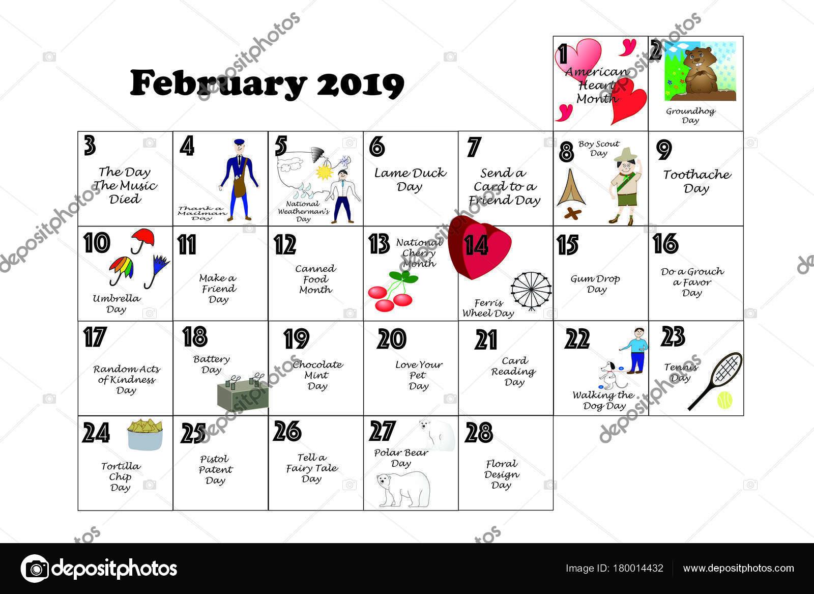 Calendario Feste.Calendario Mensile Illustrato Annotata Con Quotidiana
