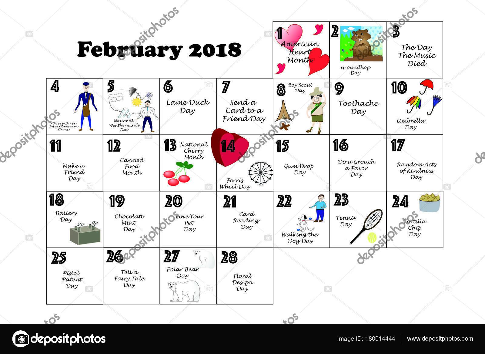 月のカレンダー イラスト付けられて毎日の風変わりな休日や日曜日の