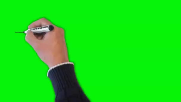 Illustrated medical signs animated on removable green screen with copy space.