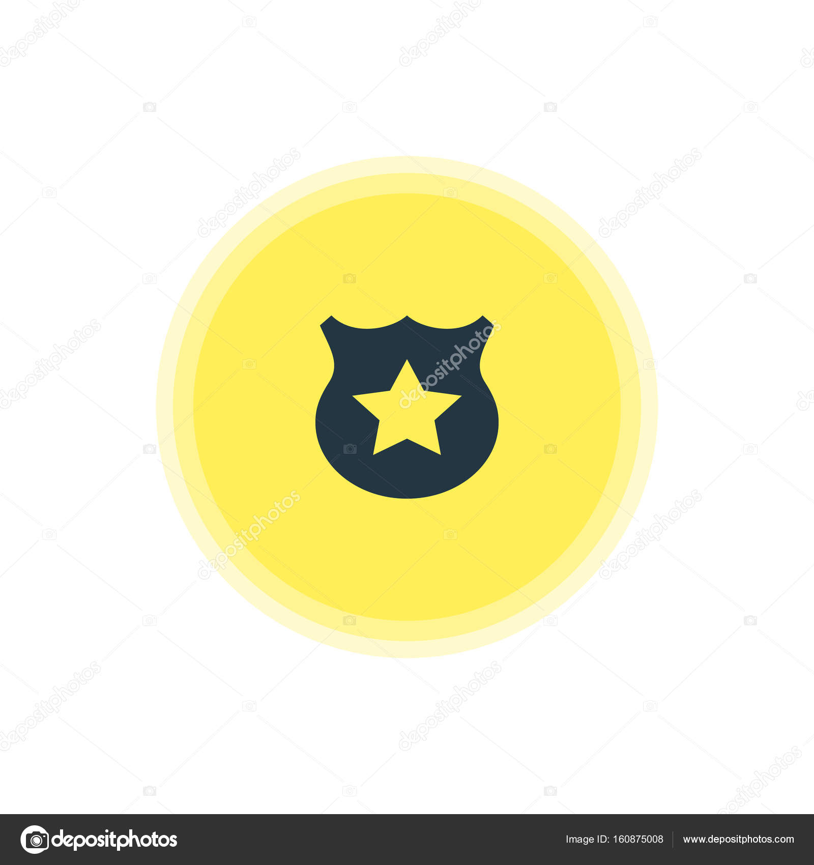 Vector Illustration Of Police Icon Beautiful Map Element Also Can