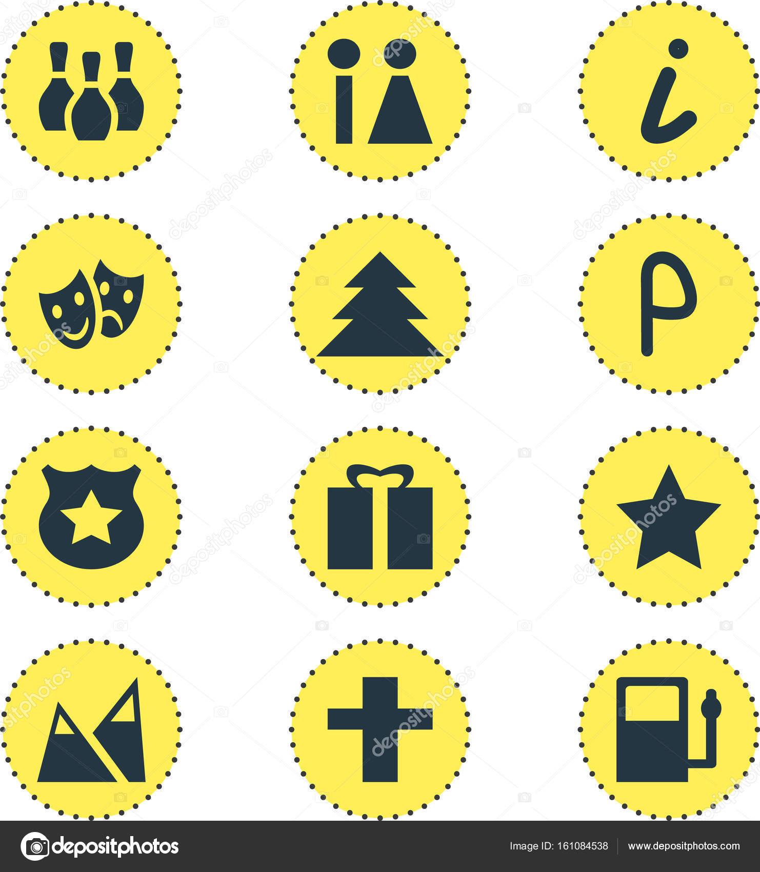 Vector Illustration Of 12 Location Icons Editable Pack Of Cop