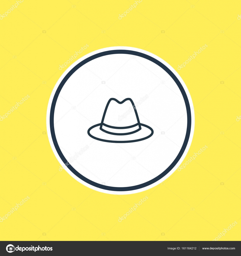 9b201d48be6 Vector Illustration Of Panama Outline. Beautiful Dress Element Also Can Be  Used As Fedora Element