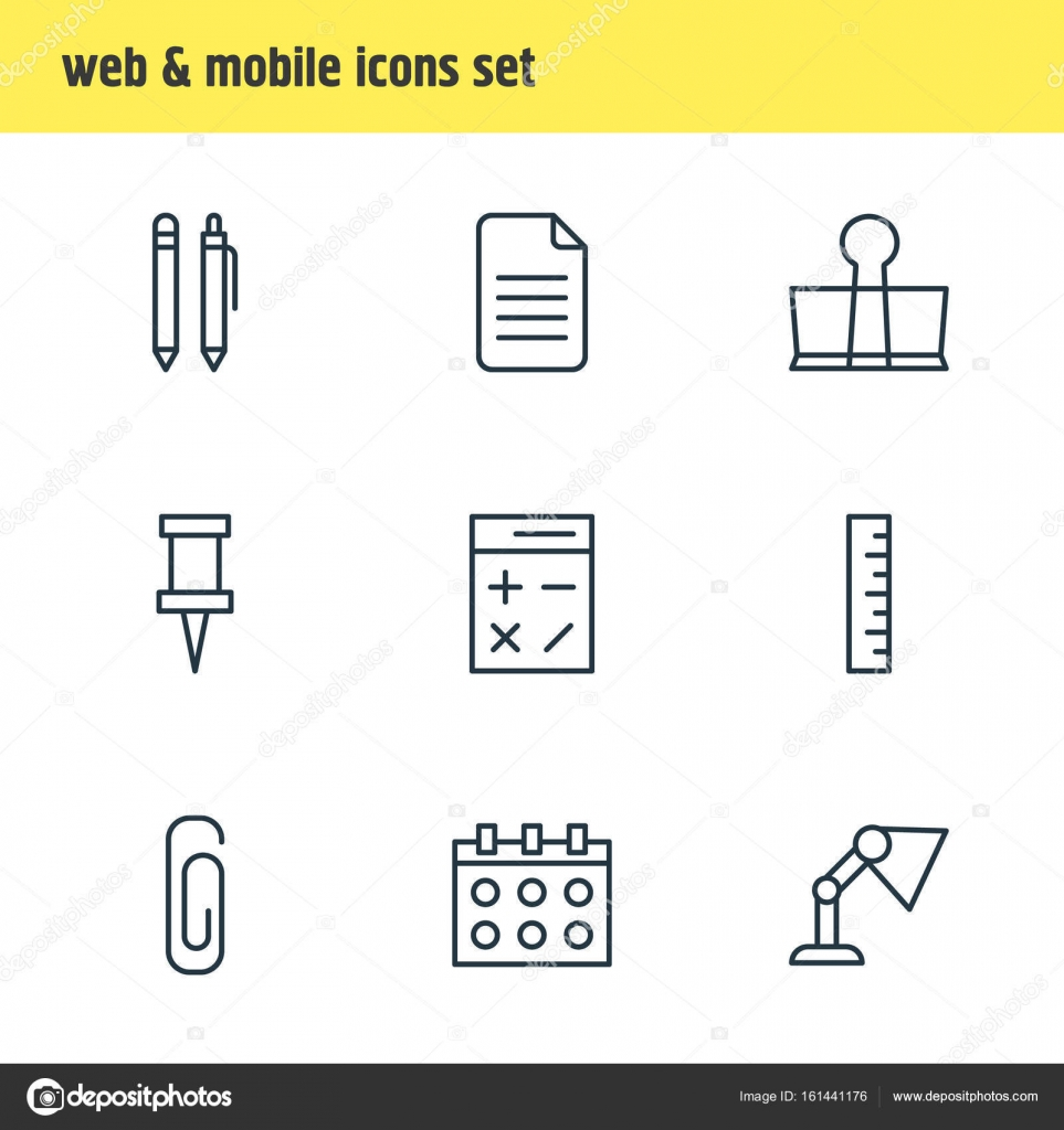 Beleuchtung Berechnen | Vektor Illustration Von 9 Instrumente Icons Editierbare Pack
