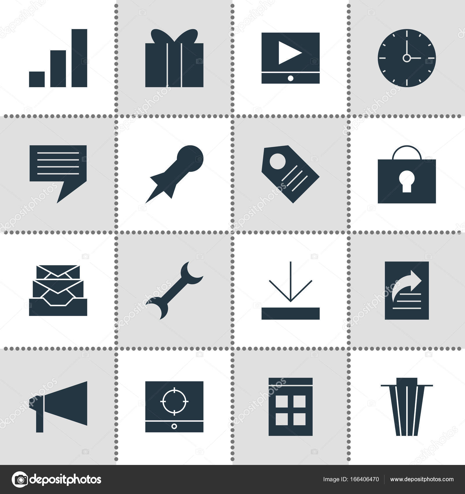 Vector Illustration Of 16 Web Icons Editable Pack Of Increase Chart