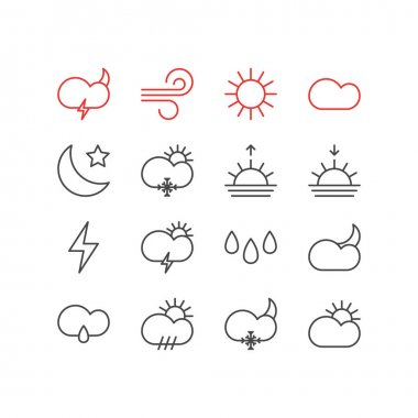Editable Pack Of Sunlight, Snowflake, Sunny And Other Elements.  Vector Illustration Of 16 Sky Icons. icon