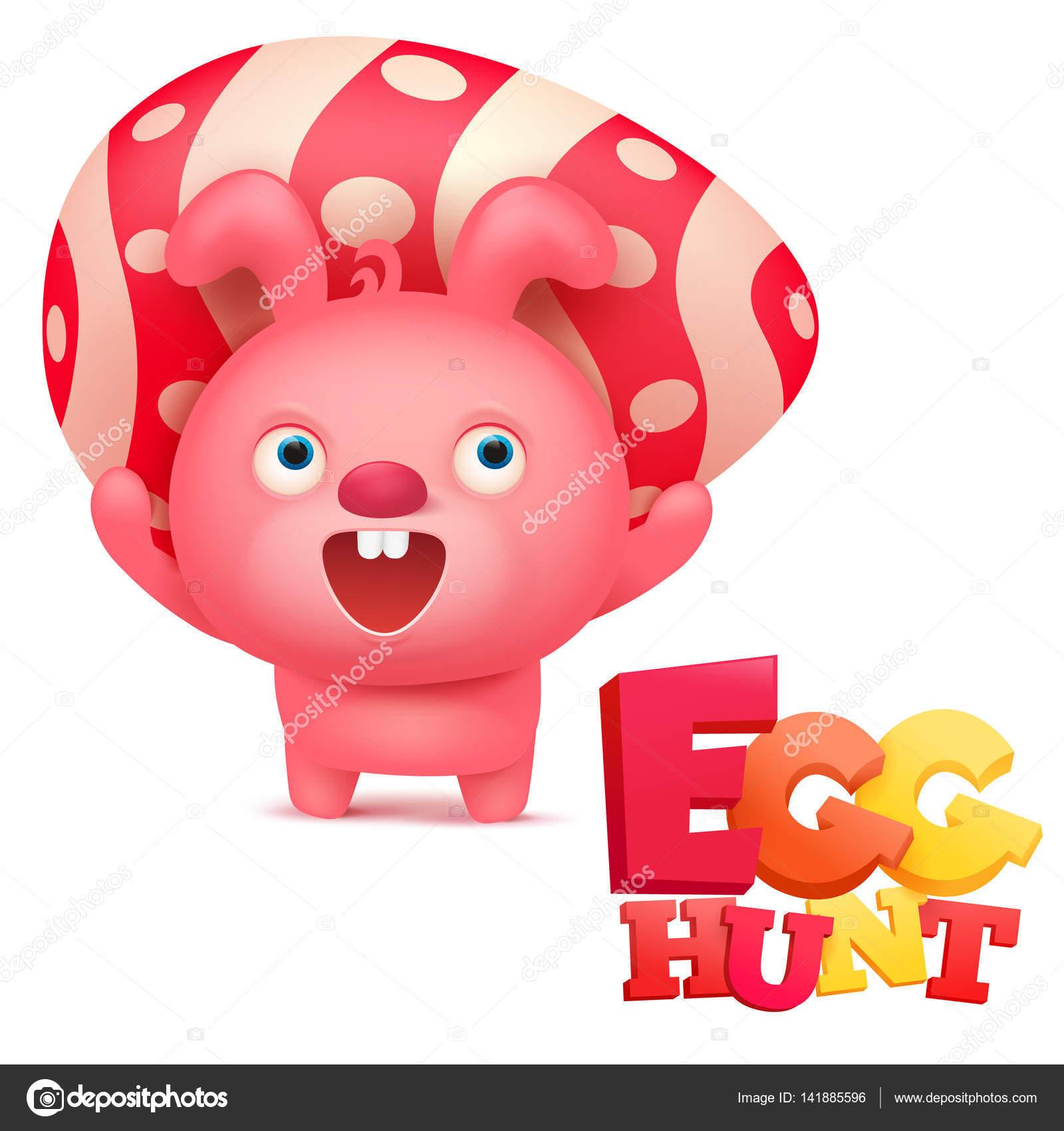 Plantilla de tarjeta de invitación Pascua caza con conejo rosa ...
