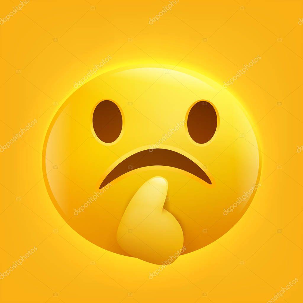 foto de Imágenes: caritas tristes y pensativas Icono de emoticonos emoji triste carita sonriente