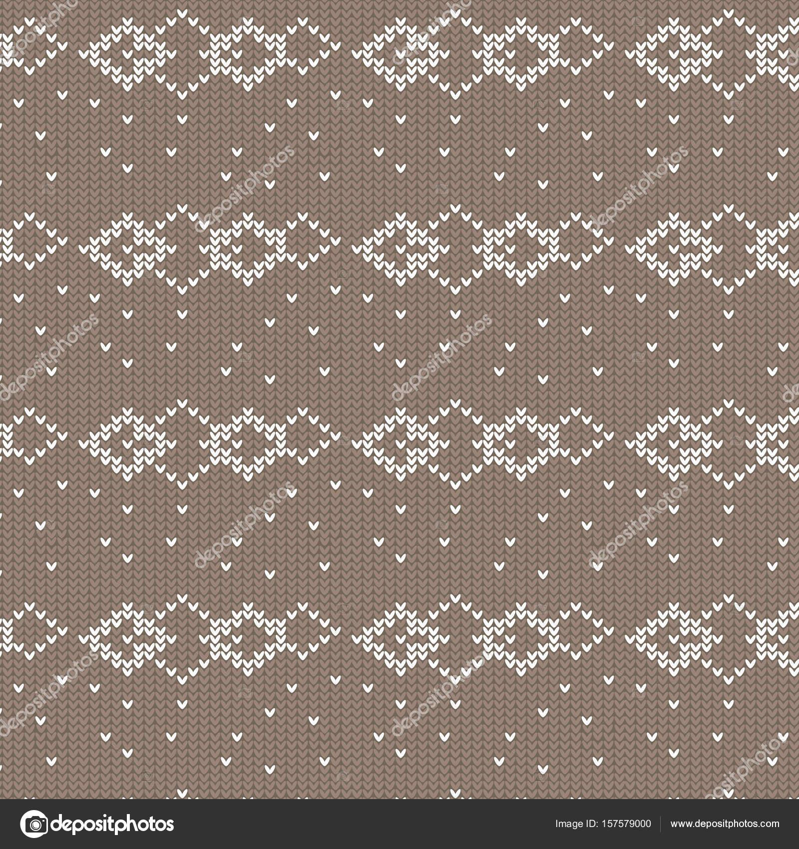 forma de diamante color marrón y blanco con patt de tejer punto ...