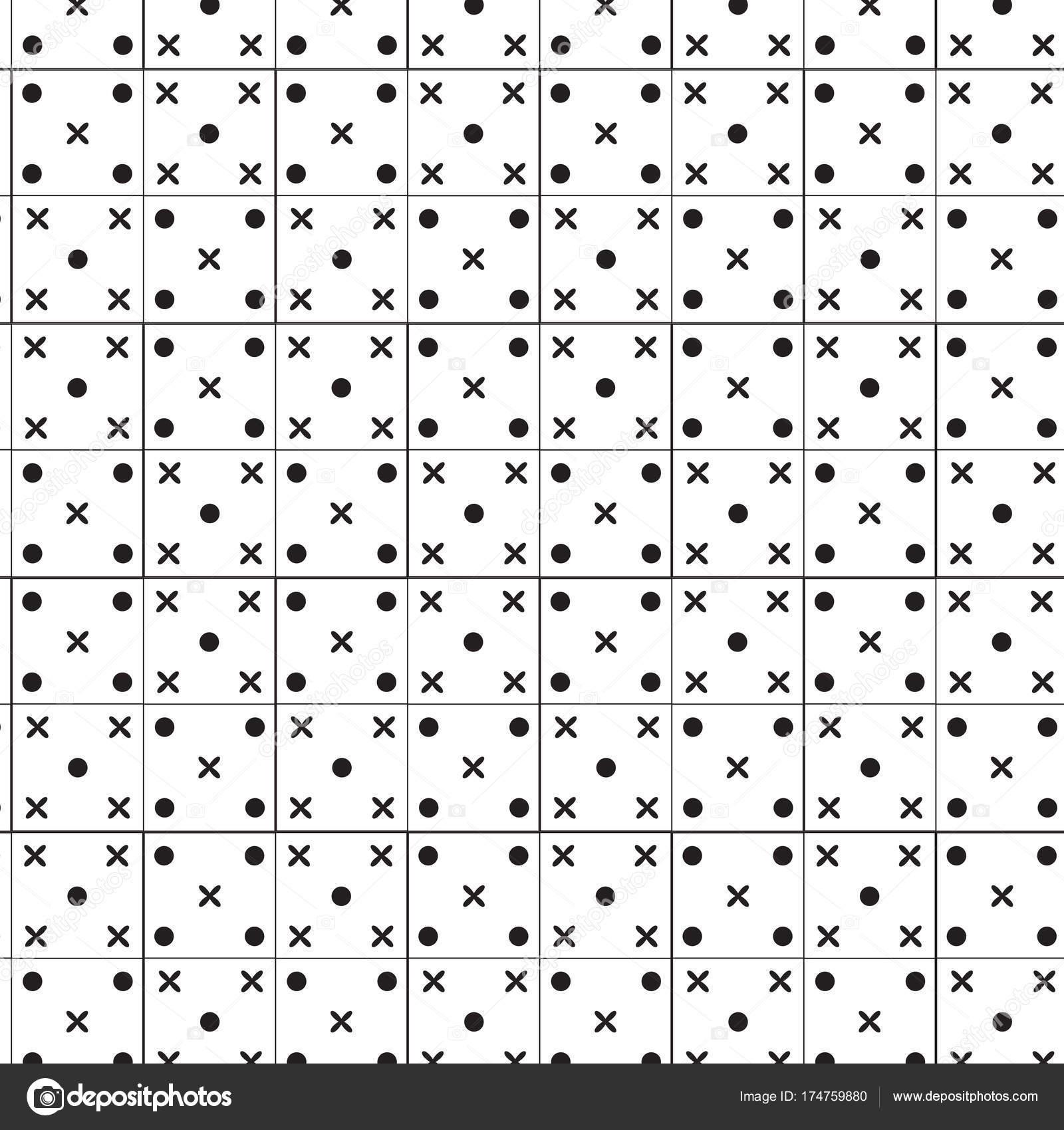 schwarzer Kreis und Kreuz unterzeichnen in quadratischen Rahmen ...