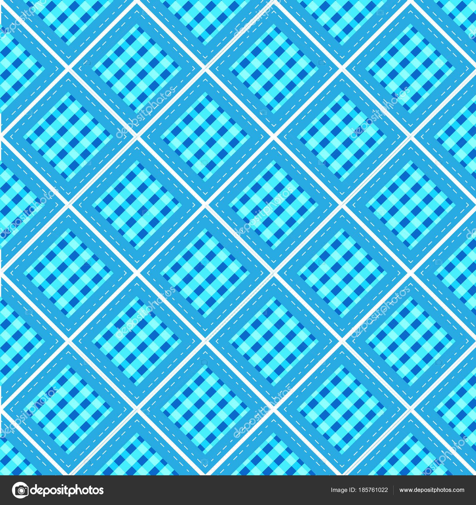 forma de diamante azul de cuadros pastel con fondo de línea ...