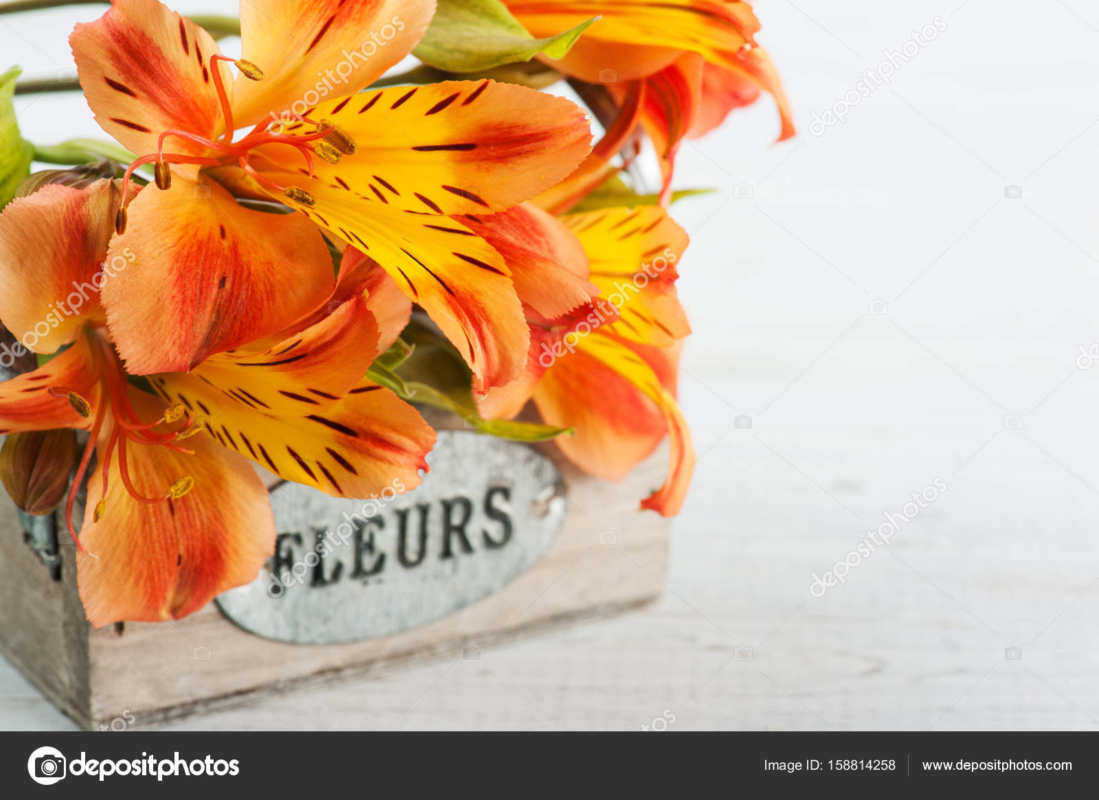 Flores Naranjas Png Arreglo De Flores De Lirio Naranja En Caja De