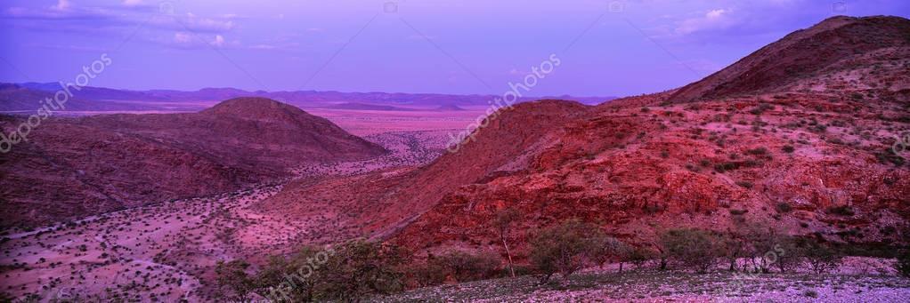 rocky desert in africa
