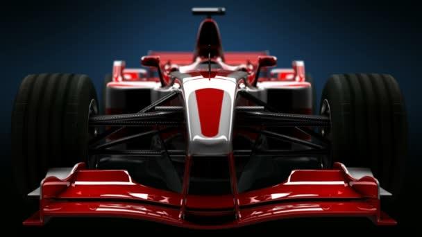 Formule jedna auto Detail zblízka. F1 vysoce kvalitní 3d animace. HD