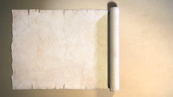 alte Papyrusrolle öffnen hd mit alpha chanel.