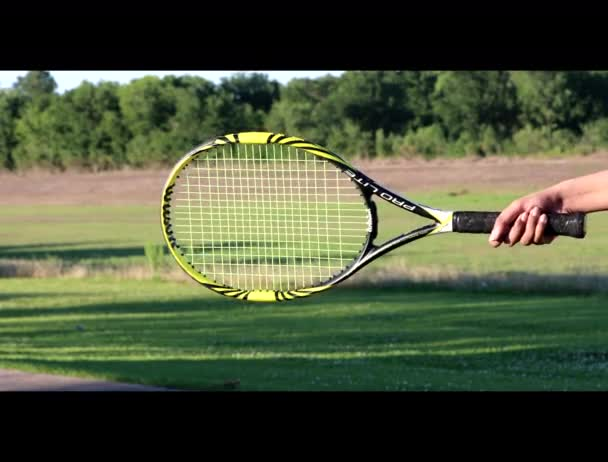 Tennis Ball hit the net during play