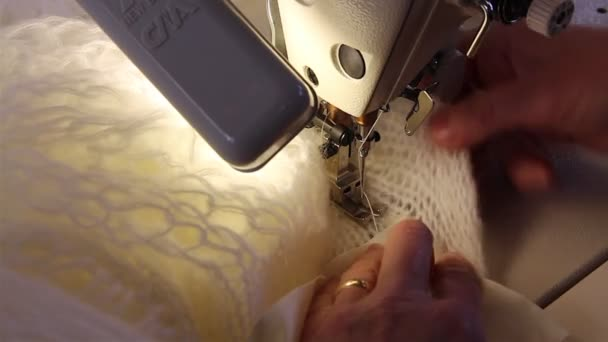 Tailoring work with sewing machine