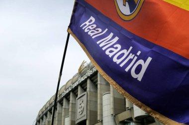 Real Madrid futbol kulübü Chamartin, Madrid, İspanya ve Avrupa 'dan Santiago Bernabeu Stadyumu