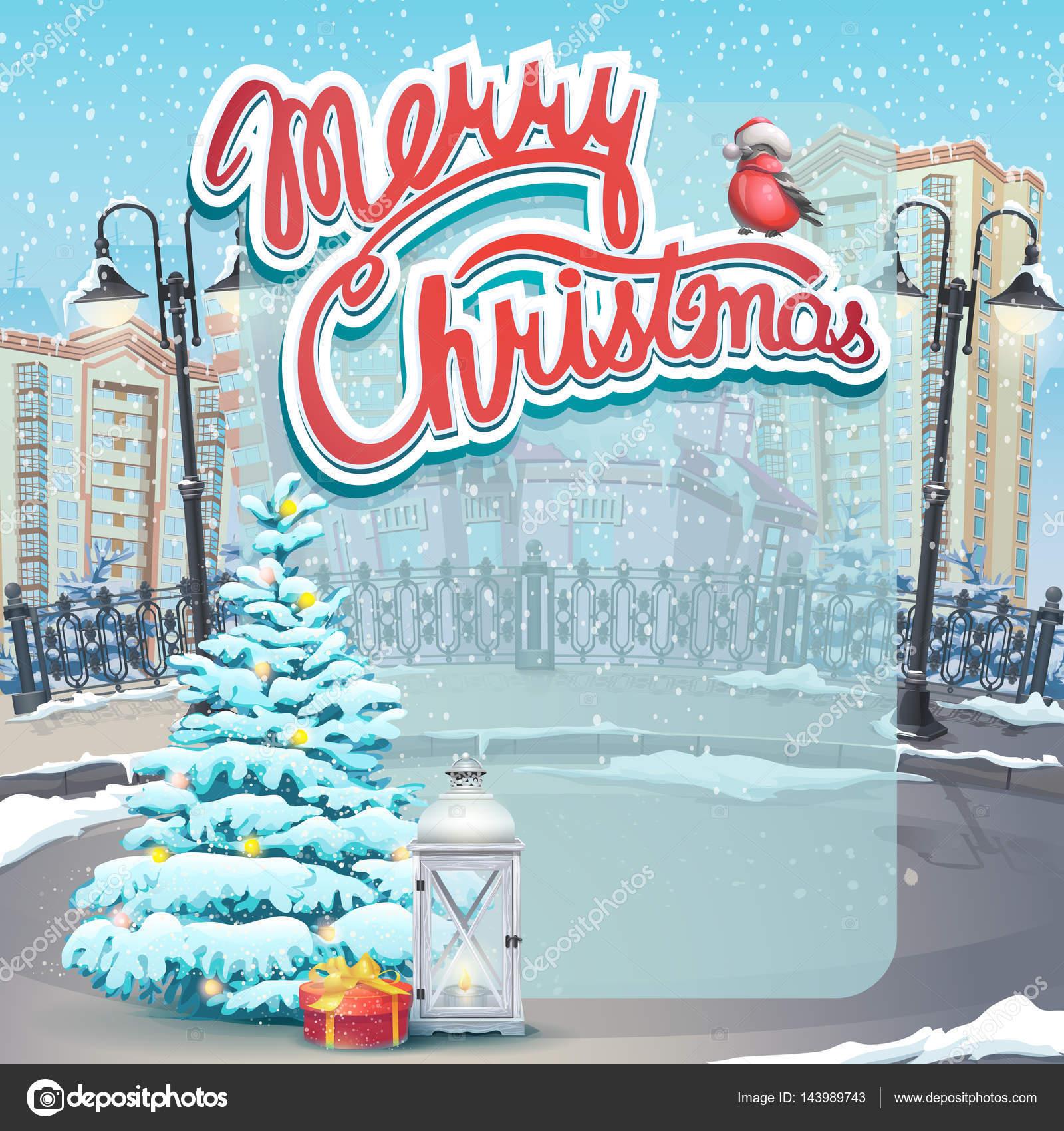 Invitacion De Navidad Para Imprimir Ilustración De Vector