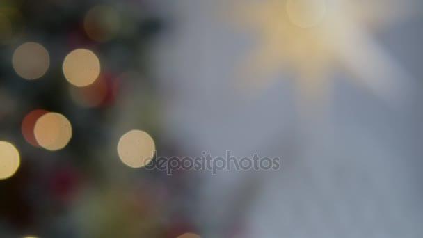 Weihnachten-Interieur im Studio. Out of Focus. Hintergrund unscharf ...