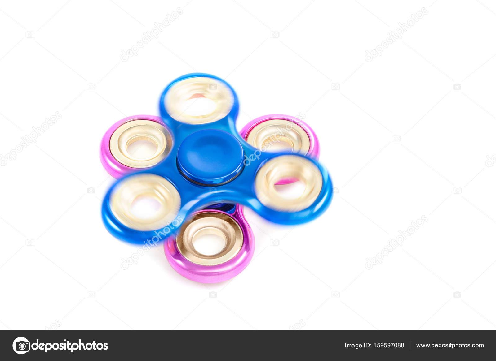Blaue Spinnen Spinner auf festen rosa — Stockfoto © GrashAlex #159597088