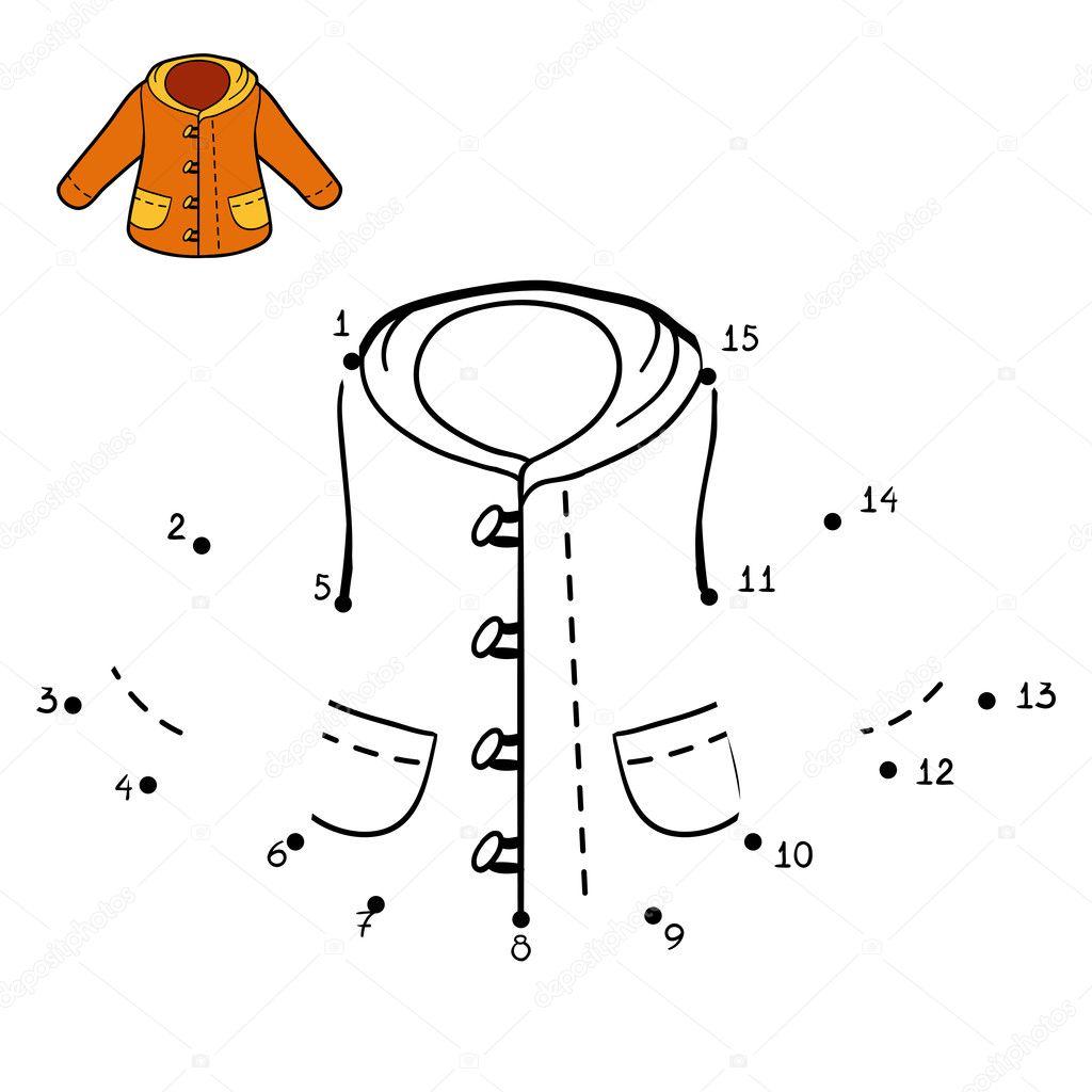 Sayı Oyunu Kışlık Mont Stok Vektör Ksenyasavva 124908910