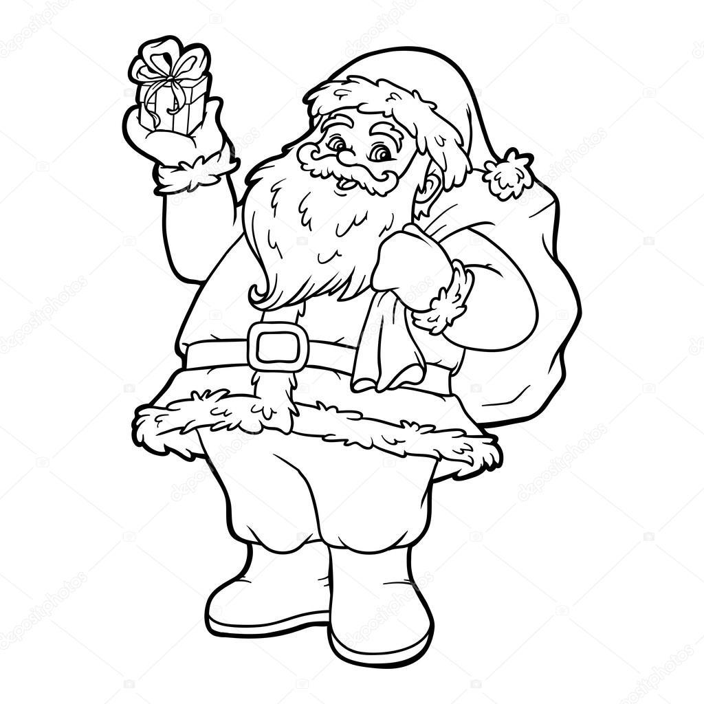 Boyama Kitabı Noel Baba Stok Vektör Ksenyasavva 128784630