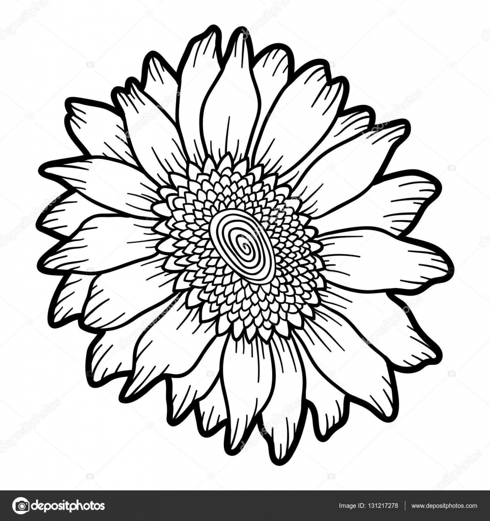 Funny Sunflower Coloring Page For Kids Flower Pages Funny Flower adult | 1024x963
