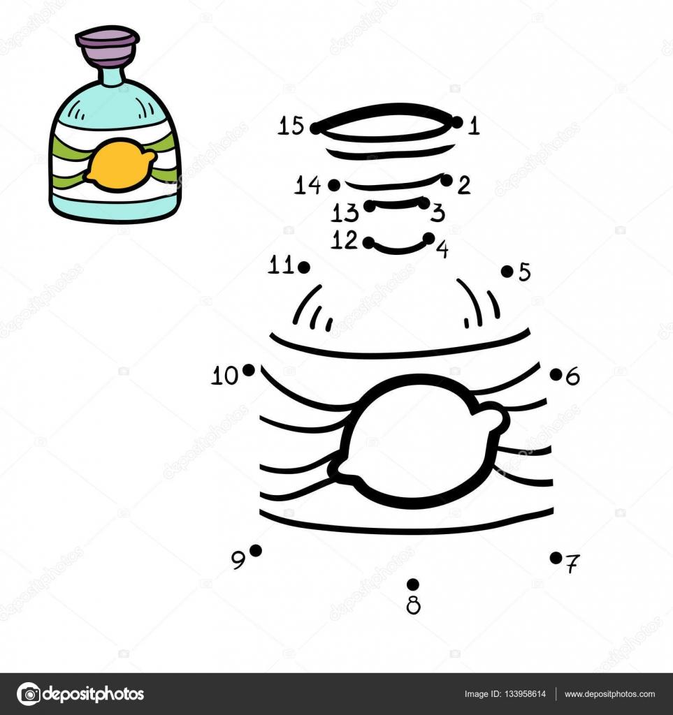 Imágenes Jabon Liquido Para Colorear Juego De Números