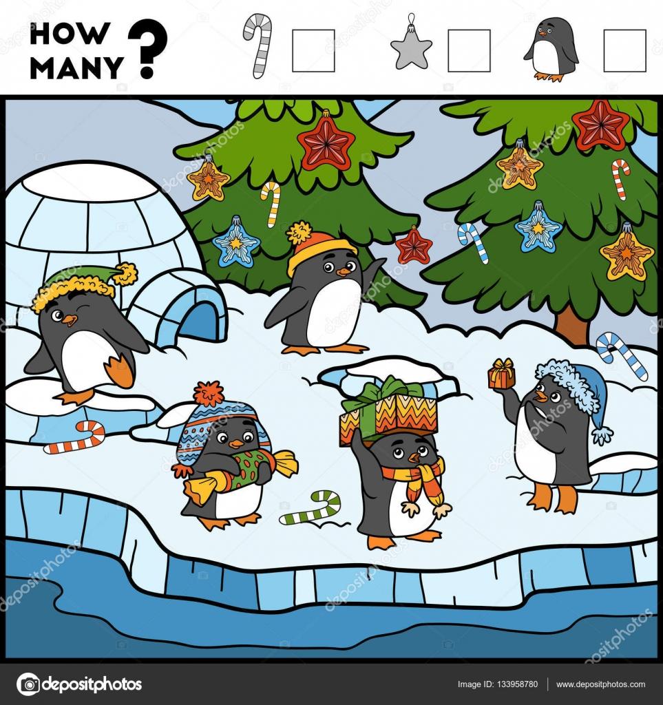 Игра в подсчет для детей. Образовательная игра. Пингвины и ...