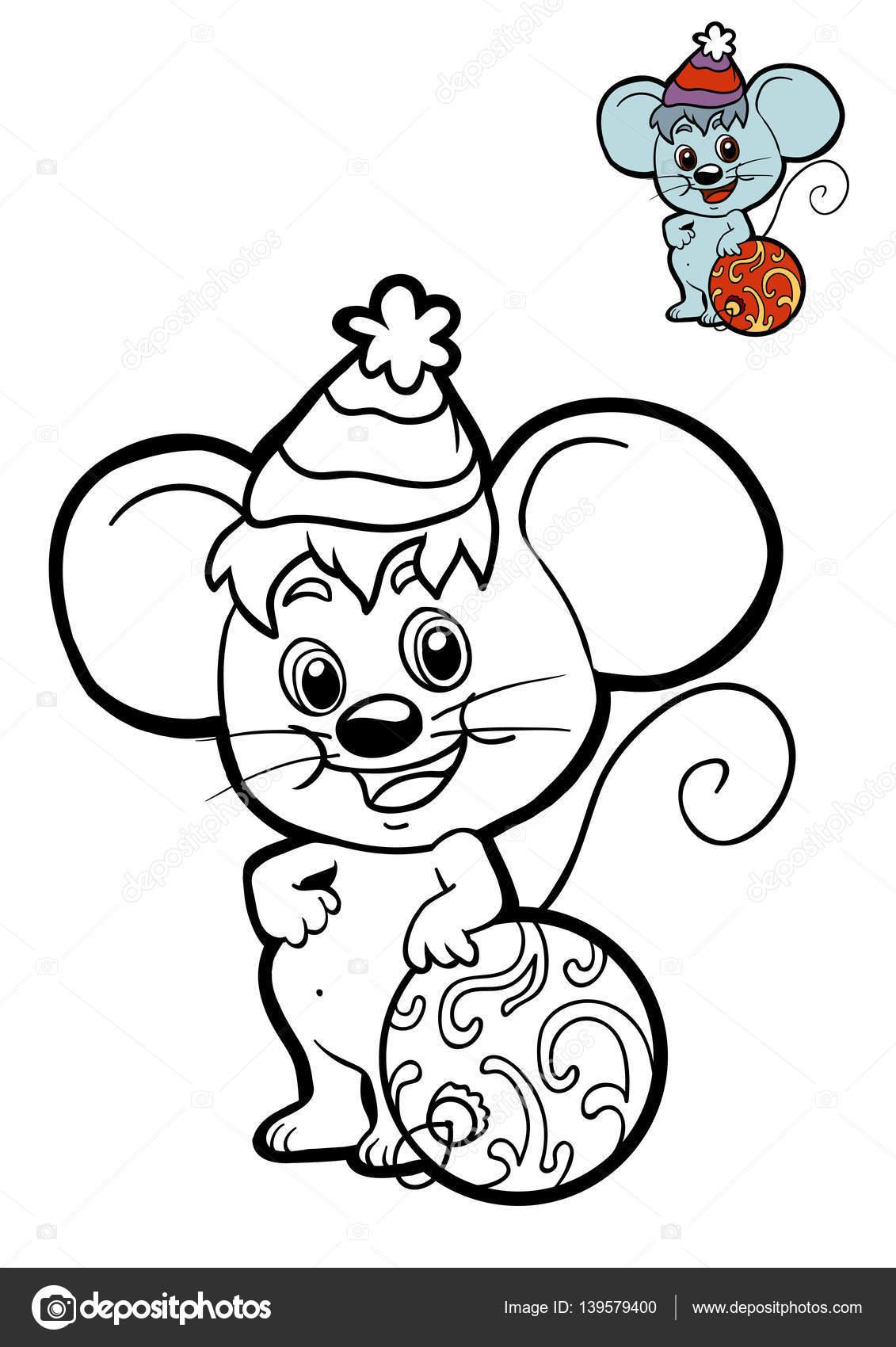 Libro de colorear para niños, ratón — Foto de stock © ksenya_savva ...