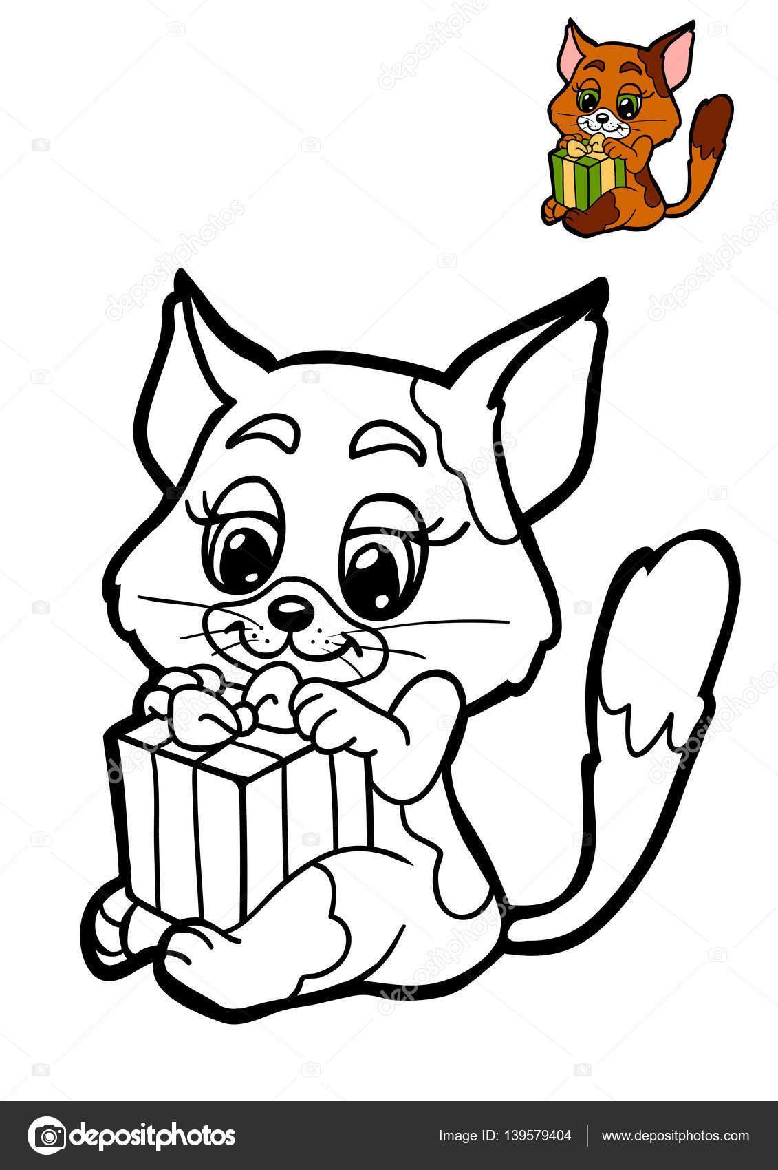 libro para colorear para niños, gato — Foto de stock © ksenya_savva ...