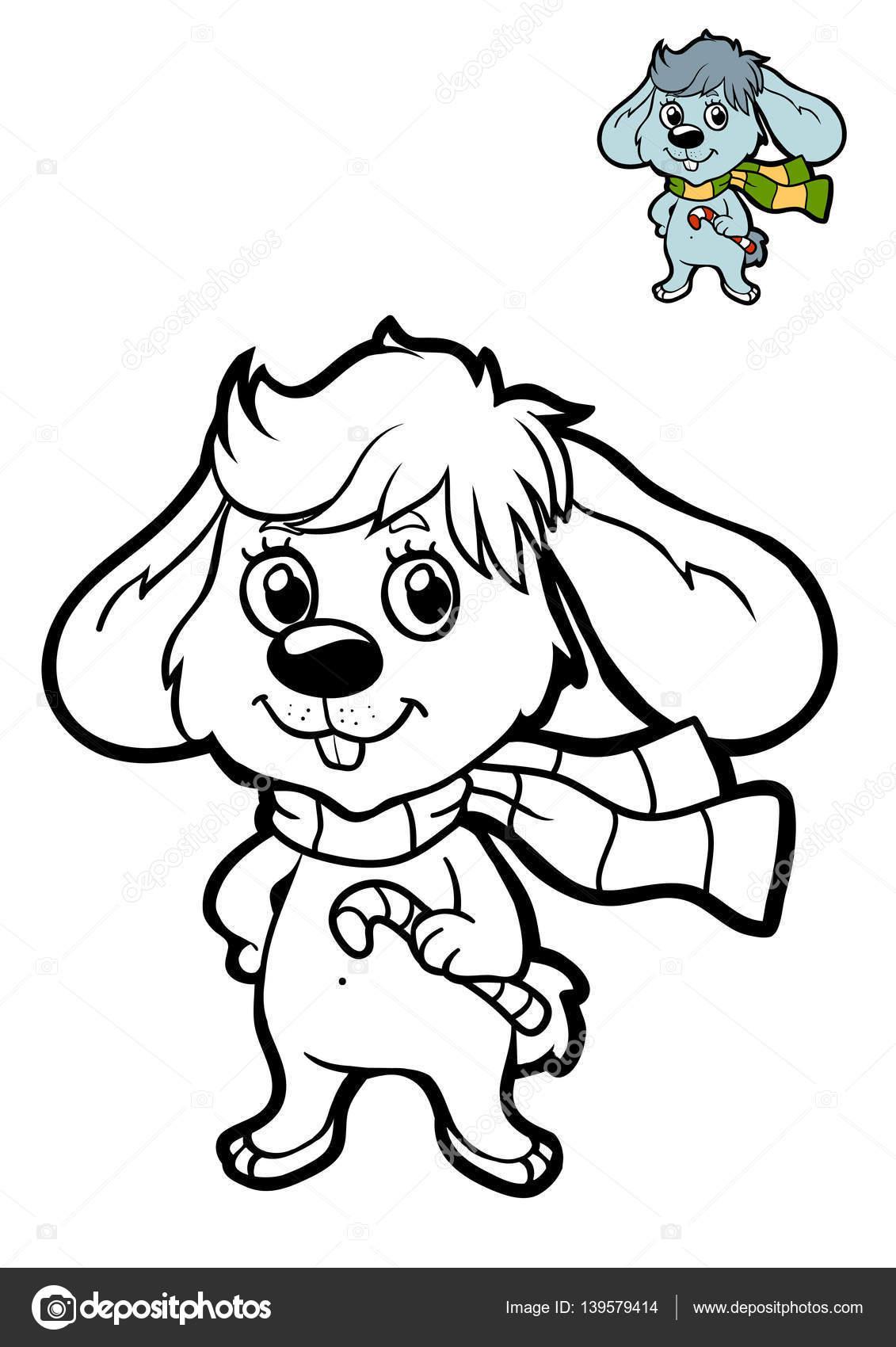 çocuklar Tavşan Boyama Kitabı Stok Foto Ksenyasavva 139579414