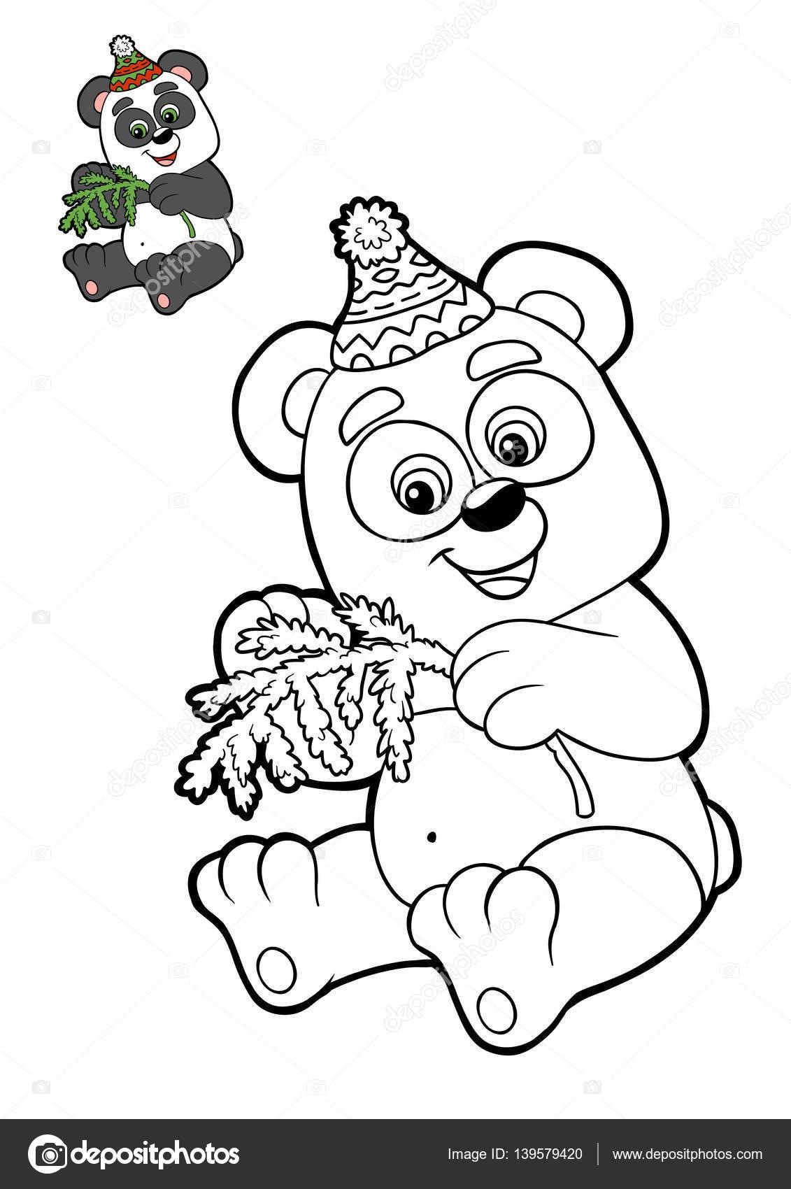 Libro de colorear para niños, Panda — Fotos de Stock © ksenya_savva ...
