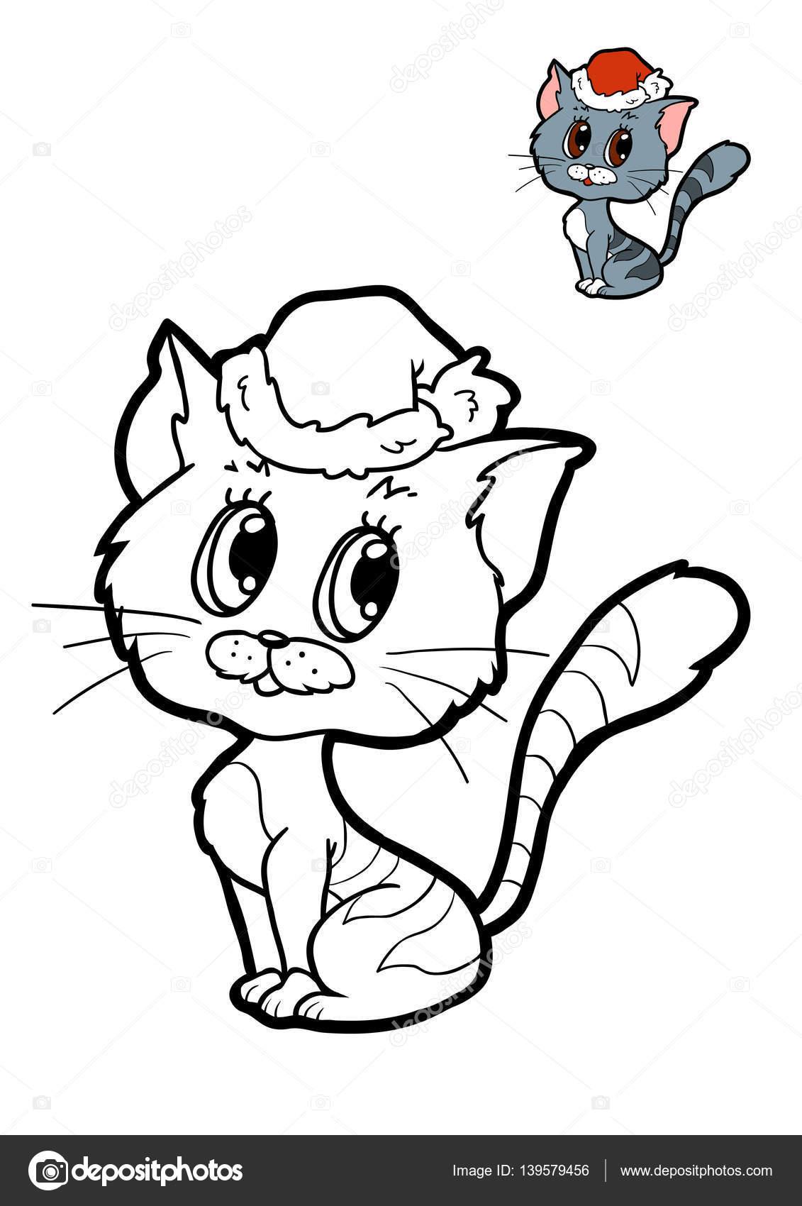 çocuklar Için Boyama Kitabı Kedi Stok Foto Ksenyasavva 139579456