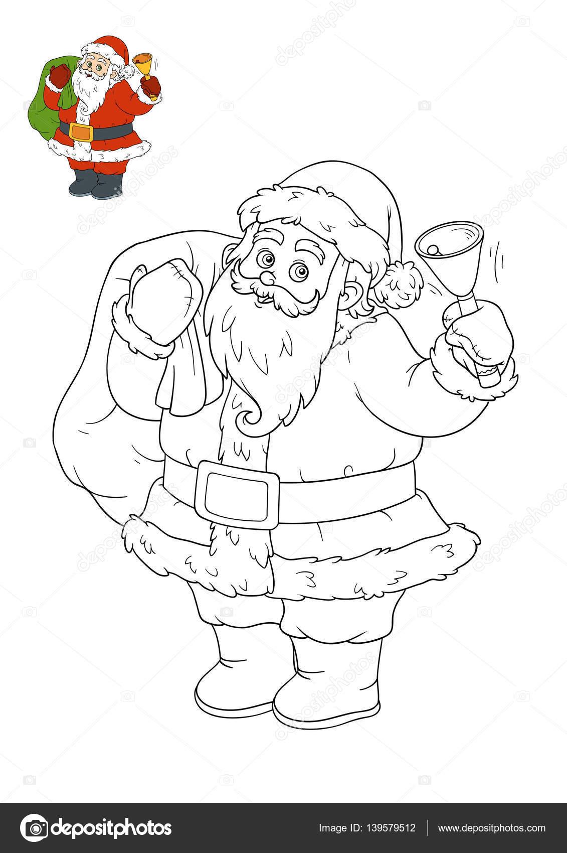 Libro para colorear, Papá Noel — Foto de stock © ksenya_savva #139579512