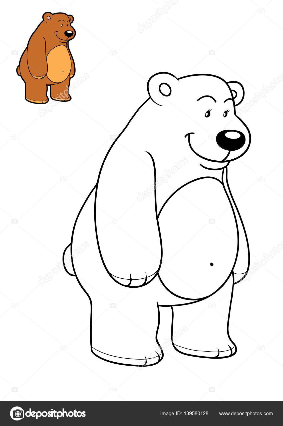 картинка медведь для детей книжка раскраска медведь