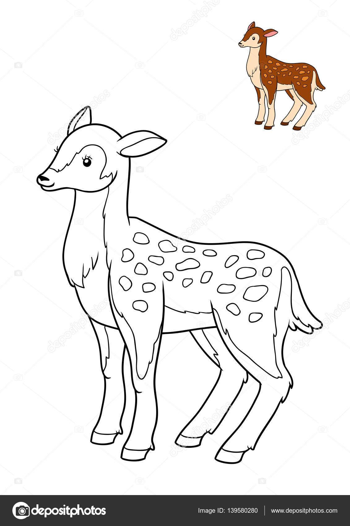 Libro de colorear, ciervos — Fotos de Stock © ksenya_savva #139580280